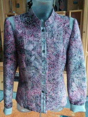 Damen Jacke Blumen-Prägung Edel Blazer Gr.38 in Bunt von Kriss NW