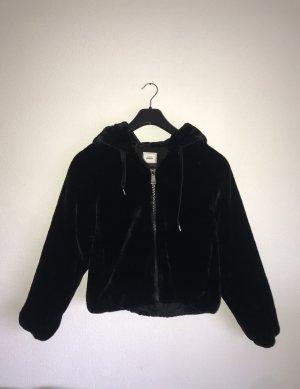 Pimkie Futrzana kurtka czarny