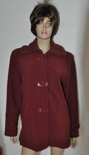 Veste polaire rouge carmin polyester
