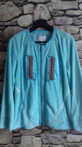 Laura Kent Fleece Jackets turquoise-light blue polyester