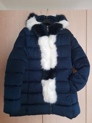 Assuili Winterjack blauw-wit Polyester