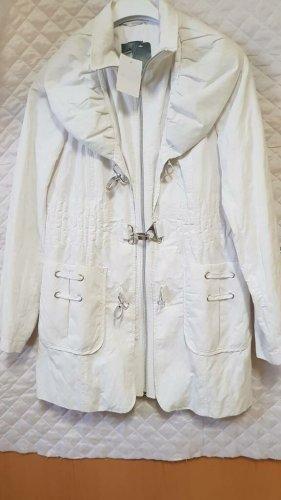Damen Jacke in Weiss Gr. 38 Übergangsjacke mittellang