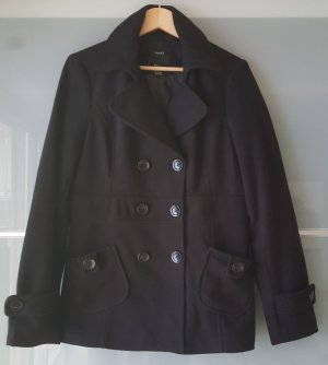 Damen Jacke Mantel Schwarzer (Forever 21) Pea Coat