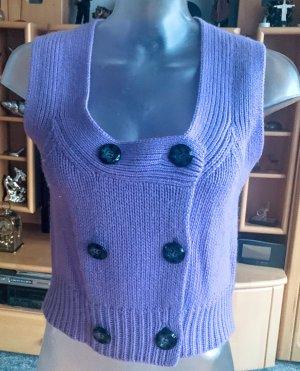 Alba Moda Knitted Vest purple angora wool