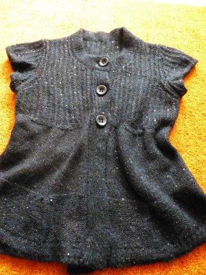 Sem per lei Smanicato lavorato a maglia nero-marrone scuro Lana