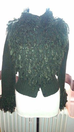 Beauty Women Cardigan dark green-forest green wool