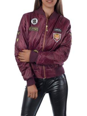 Damen Jacke Übergangsjacke Pilotenjacke Bomberjacke Fliegerjacke weinrot Größe M NEU