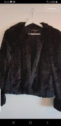 Zara Chaqueta de piel sintética negro