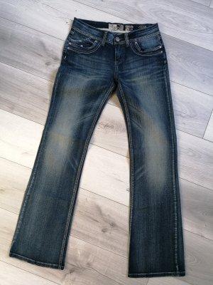 Multiblu Jeansy z prostymi nogawkami ciemnoniebieski