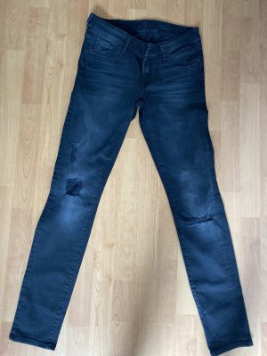 7 For All Mankind Slim Jeans black cotton