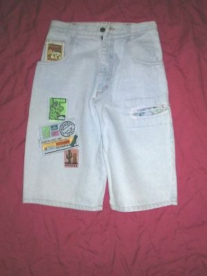 Damen-Jeans 5 pocket- kurz- Gr.M/38- Denim - von silver Made in USA-
