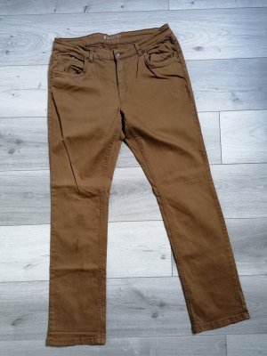 Charles Vögele Jeansy z prostymi nogawkami jasnobrązowy