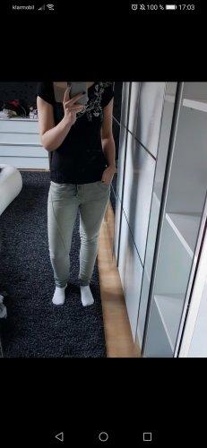 Biker Jeans light grey