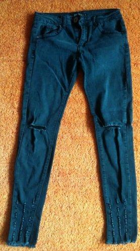 Damen Jeans Hose 7/8 Stretch Gr.XS in Anthrazit von One Love