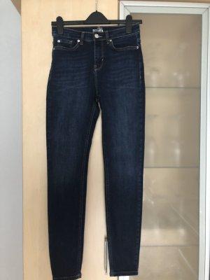 Jeans High Waist Damen Skinny Jeans 7//8 Jeanshose Used Look