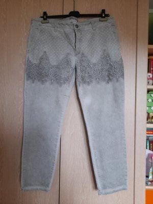 Linea Tesini Jeans boyfriend grigio chiaro-argento