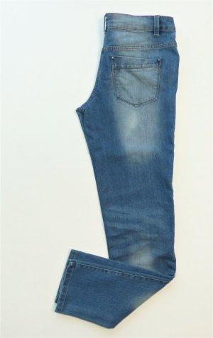 Up2fashion Jeansy 7/8 stalowy niebieski Bawełna