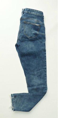 Mango Jeans a 7/8 blu acciaio Cotone