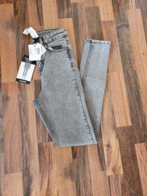 Tezenis Pantalón de cintura alta gris