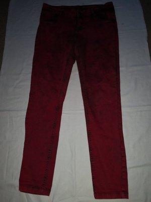 Janina Stretch jeans zwart-rood