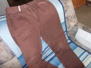 Pantalon cinq poches rouille coton
