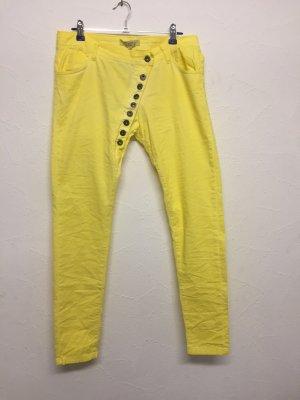Liberty Jeans elasticizzati giallo Cotone