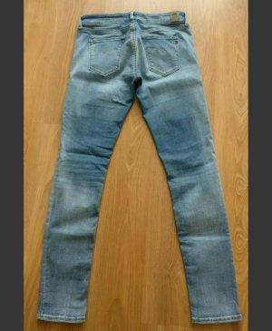 Damen - Jeans Replay, Sommerhose, hellblau, NEU, W 29, L 30, skinny, used look