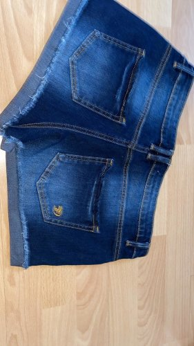 Tom Tailor Denim Short en jean bleu foncé