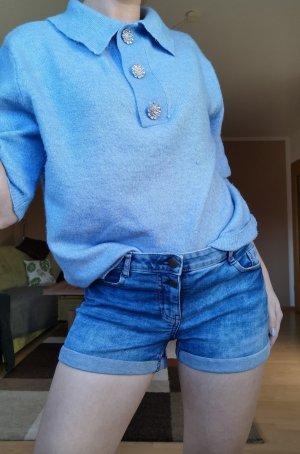 Vintage Denim Shorts cornflower blue