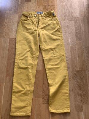 Versace Jeans Vaquero estilo zanahoria amarillo pálido