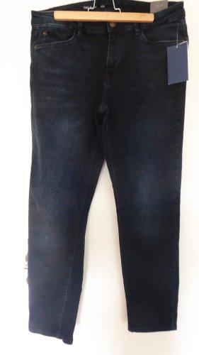Pantalone cinque tasche blu scuro Cotone
