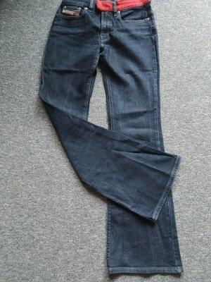Damen-Jeans von Diesel Industry - Denim - mit rotem Gürtel - Size 26