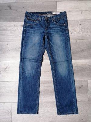 edc Jeansy z prostymi nogawkami niebieski