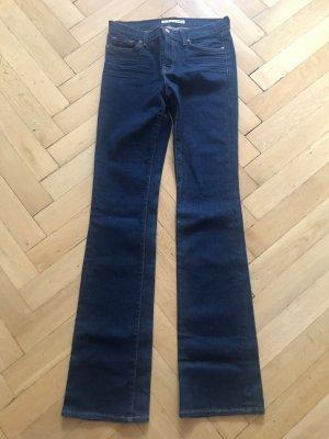 JBRAND Jeansy z prostymi nogawkami niebieski Bawełna