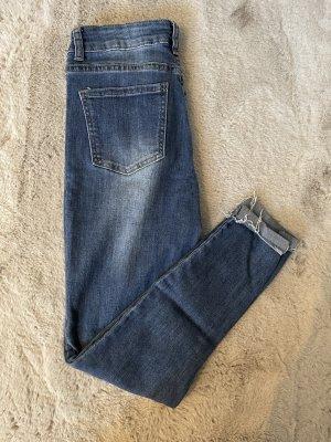 SheIn High Waist Jeans steel blue mixture fibre