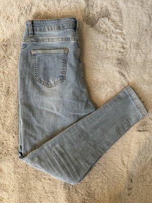 SheIn High Waist Jeans azure mixture fibre