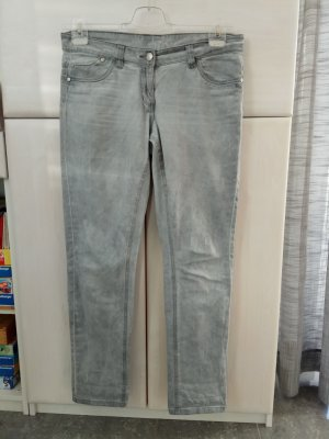 Blue Motion Jeans taille basse argenté-gris
