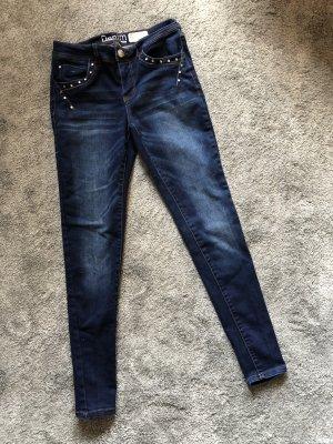 & DENIM Stretch jeans blauw