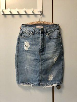 Jupe en jeans bleu clair