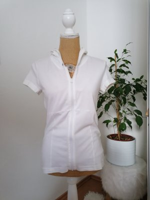 s. Oliver (QS designed) Cardigan à manches courtes blanc-argenté