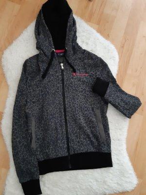 Champion Maglione con cappuccio nero-magenta