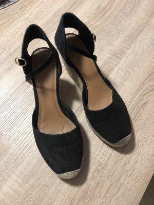 H&M Platform Sandals dark blue