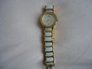 Fermoir de montre blanc-doré