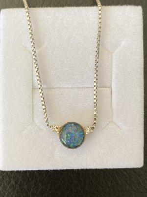 Collar estilo collier turquesa-azul claro