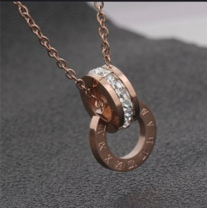 Necklace rose-gold-coloured