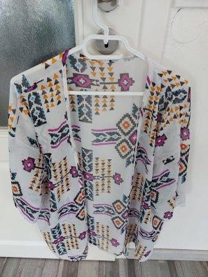 unbekannte Kimono blouse veelkleurig