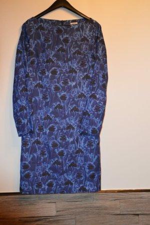 Cacharel Sukienka z długim rękawem czarny-niebieski