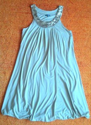 grain de malice Sukienka z rękawem balonowym jasnobeżowy Wiskoza