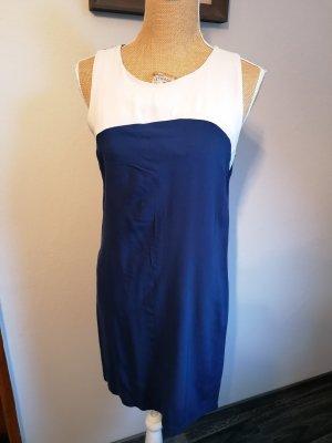 Camaieu Shortsleeve Dress natural white-dark blue