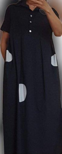 Damen Kleid * Blau *Sommer * Baumwolle 100% * Gr. 36